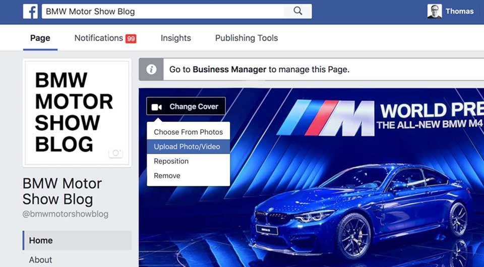 Facebook bietet Video-Cover für Seiten